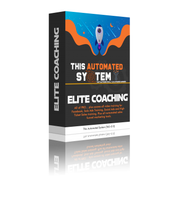 2: Elite Coaching: $100, $300 or $500 Levels.  All of PRO... plus access all Video Training for Facebook, Solo Ads Training, Social Ads, 16 Week Biz Training and High Ticket Sales training.